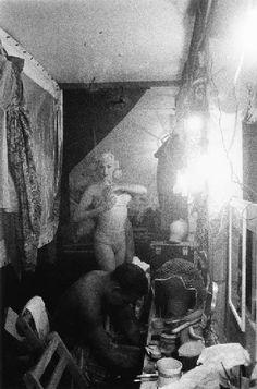 Diane Arbus -  Female impersonators' dressing room, NYC 1958 #DianeArbus