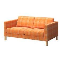KARLSTAD 2-zitsbank - Husie oranje - IKEA