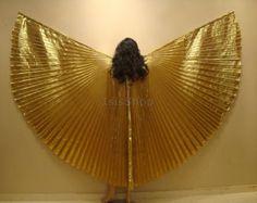 ALAS de ISIS muy egipcio profesional Linda oro Lame por isisbazaar
