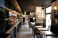 La Corde a Linge - Brasserie & Cafe..lots of places to hang purses/jackets/hats