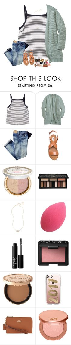 """""""what are some of yalls fav makeup products?"""" by hopemarlee ❤ liked on Polyvore featuring MANGO, Steve Madden, Too Faced Cosmetics, Kat Von D, Kendra Scott, NARS Cosmetics, Casetify, Coach, tarte and hmsloves"""