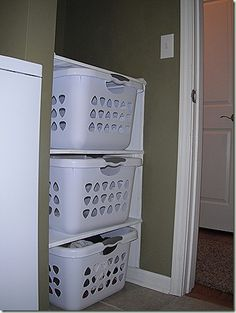 How to build laundry basket shelves ive seen these a lot and it we finished redoing the laundry room what you cant see here is the blue countertop the scratched up sink the laundry basket shelves solutioingenieria Image collections