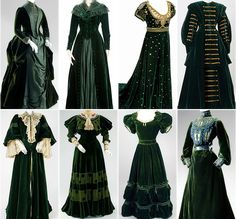 Vintage Green Power dresses | Tumblr (I really like the third one on the top)