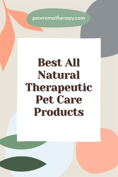 Our PawromaTherapy natural pet products are all handcrafted in our office in Florida by holistic veterinarian, Dr. Deneen Fasano. Made with natural, organic herbs and essential oils.
