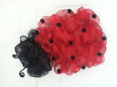 My first ladybug deco mesh wreath. Gotta change some things for the next one.