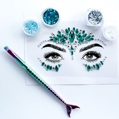 Glitter is IN, and our magpie eyes could not be happier! This luxe glitter box is perfect for any occasion where you need to glam it up!  Contents: 1x Crystal Face Gem (stick on) 4x Tubs of multicoloured glitter 3x Tubs of gel adhesive 1x Applicator brush 3x Sponge applicators 2x Fixer sticks #hoorayshop #hoorayweddings Face Gems, Magpie, Tubs, Contents, Sticks, Adhesive, Glitter, Crystals, Box