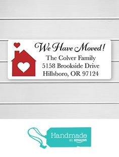 - Christmas Address Labels, We Have Moved Address Labels, New Home Address Stickers ( Christmas Address Labels, Address Stickers, New Home Gifts, New Homes, Handmade, Hand Made, New House Gifts, Moving Gifts, Handarbeit