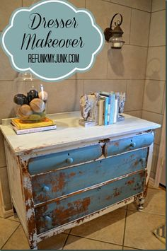 Repurposed+Furniture+Before+and+After | Dresser Makeover {Furniture Before and After} - Refunk My Junk