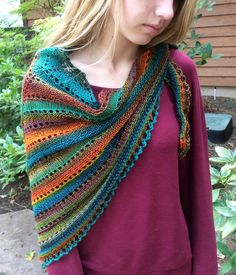 Gaia Shoulder Hug Shawl By Anne Carroll Gilmour - Free Knitted Pattern - (ravelry)