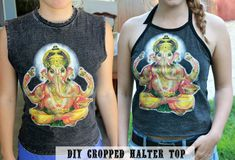 DIY cropped halter to - sew country chick