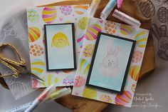 Nichol Spohr LLC: Easter cards   Simon Says Stamp March 2017 Card Kit   Zig Watercolored Easter Cards