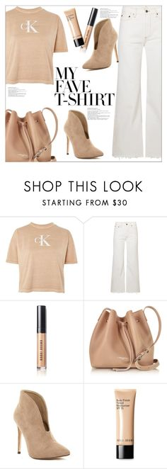 """Dress Up a T-Shirt"" by queenvirgo ❤ liked on Polyvore featuring Calvin Klein, Simon Miller, Bobbi Brown Cosmetics, Lancaster and MyFaveTshirt"