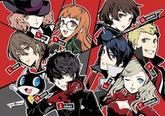 Neat picture by the Persona Q's manga artist : Persona5