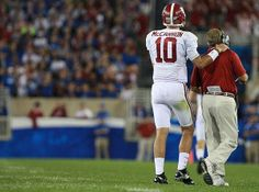 I'm going to miss this.  #AJMcCarron and #NickSaban    Check out RollTideWarEagle.com Sports stories that inform and entertain plus FREE football rules tutorial, let us know what you think. #Alabama