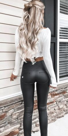 #winter #outfits black leggings