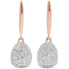 Monica Vinader Nura rose gold vermeil diamond earrings ($925) ❤ liked on Polyvore featuring jewelry, earrings, accessories, vermeil jewelry, earring jewelry, diamond jewellery, polish jewelry and rose earrings