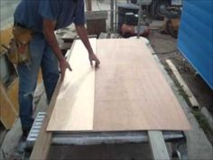 Restoring The Shasta Part 5c - Installing The New Birch Ceiling Panel