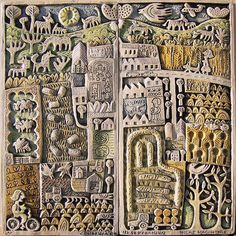 Hilke MacIntyre, Countryside in September, ceramic relief.