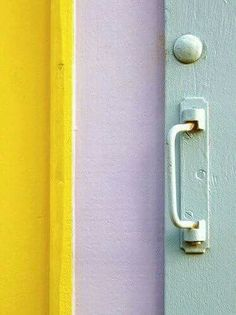 yellow, lilac, mint