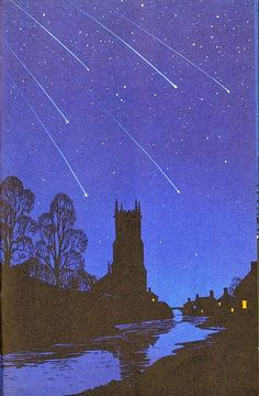 """Robert Ayton (1915-1985). Ayton illustrated the 1961 Ladybird book """"Night Sky"""""""
