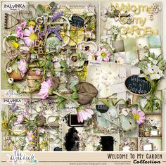Welcome To My Garden Collection + Free Gift by Palvinka Designs | Digital Scrapbook @ at The Digichick