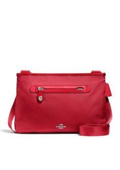 NWT Coach Red Nylon Small Crossbody Bag New 36707  ($195) #Coach #MessengerCrossBody