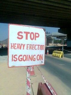 Come on! No one involved in the process of creating this sign saw a problem? Haha