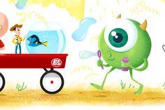 Pixart: Pixar Tribute by Dennis Salvatier, via Behance