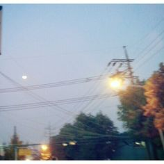 .@HYE PEH | Autumn evening #가을저녁 #투명 #파랑 #동네 #달 #시선 #fall #blue #town #town... | Webstagram