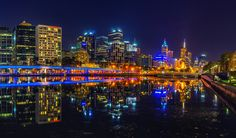 https://flic.kr/p/GkDJDw | Melbourne City | One of the things I love about Melbourne and the Yarra River is that after hours, the water becomes so still it's like a mirror.