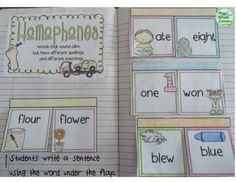Interactive Notebook: Phonics {Second Grade} 2nd Grade Grammar, First Grade Phonics, Teaching Second Grade, 2nd Grade Writing, 2nd Grade Reading, Teaching Skills, Primary Teaching, Teaching Themes, 2nd Grade Classroom