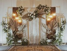 Find rustic wedding ideas and photos from real rustic weddings. Get rustic wedding ideas, read articles and more. Wedding Backdrop Design, Rustic Wedding Backdrops, Wedding Reception Backdrop, Rustic Backdrop, Wedding Stage Decorations, Engagement Decorations, Backdrop Decorations, Wedding Centerpieces, Rustic Theme