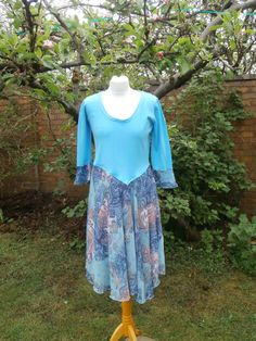 Upcycled Sweater Dress 'Pixie Queen' UK size by StrangelyMagical