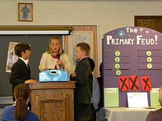 Primary Feud! My chorister did this with a music review, the kids loved it!