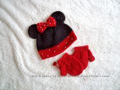 Conjunto de Crochê Minie artelinharj@gmail.com 62 98146.4188