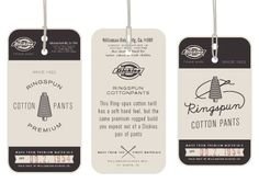 Dickies hang tags designed by Dustin Wallace