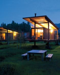 The Rolling Huts are the modern equivalent to the log cabin: six steel-and-plywood structures by Seattle-based architect Tom Kundig. Each offers modular furnishings, sleeps up to four, and has a wall of glass to take in the views of the mountains -- which are snowy or strewn with wildflowers, depending on the season.
