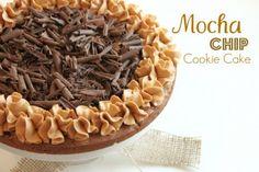 Mocha Chip Cookie Cake @createdbydiane