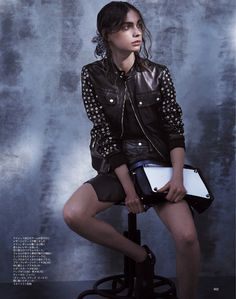 Tina Vershaguri by Akinori Ito for Spur Magazine April 2014 - Diesel Black & Gold