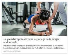 La #planche optimale pour le #gainage de la sangle #abdominale #étude #abdominaux #plank #ostéopathe #sport #mennecy #essonne https://goo.gl/jDgSHk