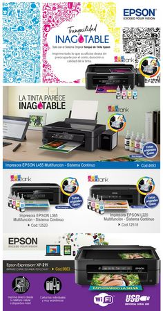 #Tintas e #Impresoras Epson con #SistemaContinuo  www.gvinformatica.com.ar #Olivos_VL #VecinosVL #FloridaEsteVL