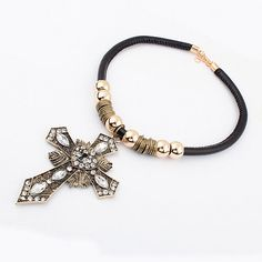 European And American Fashion Exaggerated Exotic Cross Shield New Necklace[US$8.00]