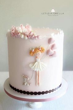 Loving this cake for a Ballerina Birthday party