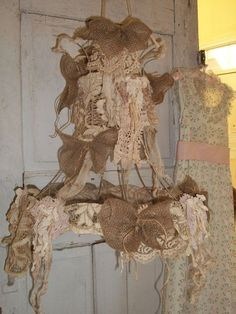 Image result for diy shabby chic lampshade