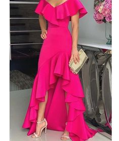 Unique Prom Dresses, hot pink fashion prom dress, There are long prom gowns and knee-length 2020 prom dresses in this collection that create an elegant and glamorous look Tight Prom Dresses, Formal Dresses, Maxi Dresses, Casual Dresses, Elegant Dresses, Prom Gowns, Dress Prom, Homecoming Dresses, Summer Dresses