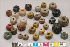 Lycanthropic Reenactor - Some eye-catching beads from Viking Age Gotland....