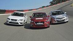 Nowa Mazda 3 w starciu z Seatem Leonem i Hyundaiem i30 - zdjęcia