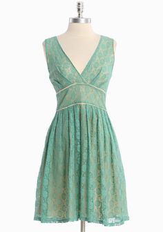 """Making New Memories Lace Dress 52.99 at shopruche.com. Channel modern romance with this soft cotton dress in teal with a butter cream lining. Finished with a fitted waist, a demure neckline, and an exposed back zipper closure.  100% Cotton, Imported, 36.5"""" length from top of shoulder"""