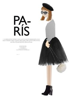 """""""paris ♥"""" by pandacubcake ❤ liked on Polyvore featuring Jigsaw, Dolce&Gabbana, Ballet Beautiful, Iris & Ink, Elizabeth and James, Gucci, black, ootd, grey and sweaters"""