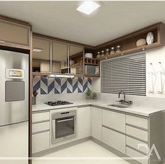 New apartment view cabinets Ideas Modern Kitchen Cabinets, Kitchen Decor, Apartment View, Small Space Kitchen, Decoration Inspiration, Cuisines Design, Cabinet Design, Small Apartments, Interior Design Living Room